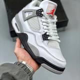 Nike Shoes | Air Jordan 4 Fashion Sports Basketball Shoes | Color: Silver/White | Size: 12