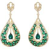 Charlotte Teardrop Earrings Emerald Gold - Metallic - Latelita London Earrings