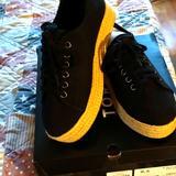 Torrid Shoes | Black Platform Espadrille Sneaker | Color: Black | Size: 9.5