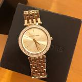 Michael Kors Accessories | Michael Kors Womens Gold And Diamond Watch | Color: Gold | Size: Os