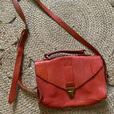 Madewell Bags | Madewell Red Leather Crossbody Bag | Color: Red | Size: Os