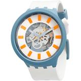 Bioceramic Blite Quartz White Skeleton Unisex Watch - Blue - Swatch Watches