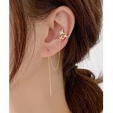 Street Region Women's Earrings Gold - Clear Cubic Zirconia & Goldtone Star Stud Earrings & Earring Jacket