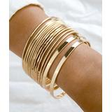 Don't AsK Women's Bracelets Gold - Goldtone Bangle Bracelet Set
