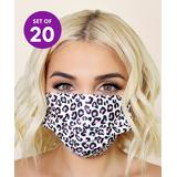 Spa Sister Disposable Face Masks Pink - White & Pink Leopard Disposable Non-Medical Face Mask - Set of 20