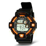 HMY Jewelry Men's Watches mutli - Orange & Black Sport Shock Chronograph Watch