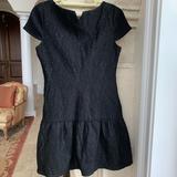 Zara Dresses | Black Brocade Zara W&B Collection Dress | Color: Black | Size: 2