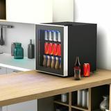 FORCLOVER 1.6 Cubic Feet cu. ft. Countertop Mini Fridge in Black, Size 19.5 H x 17.44 W x 17.77 D in | Wayfair EP-LD-23231