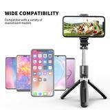 WPENGW Selfie Stick, Handheld Tripod w/ Detachable Wireless Remote & Mini Tripod Stand Selfie Stick in Black, Size 7.48 H x 1.77 W x 1.38 D in