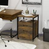 17 Stories 2-Drawer Mobile Vertical Filling Cabinet Wood in Brown, Size 25.9 H x 16.5 W x 18.1 D in | Wayfair AD7F4462805142B48D1251EC400CDA5B