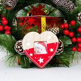 The Holiday Aisle® Lanyard Wooden Picture Frame Creative Christmas Tree Ornaments, Size 4.0 H x 4.0 W x 1.0 D in | Wayfair