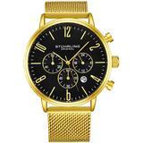 Monaco Chronograph Quartz Black Dial Watch - Metallic - Stuhrling Original Watches