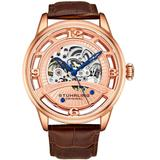 Legacy Automatic Rose Gold Dial Watch - Pink - Stuhrling Original Watches