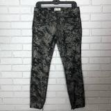 Free People Jeans   Free People Womens Python Print Skinny Jeans   Color: Black/Silver   Size: 28