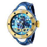 Invicta Reserve Kraken Automatic Men's Watch w/ Metal Oyster Mother of Pearl Abalone Dial - 54mm White Dark Blue Gold (36392)