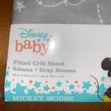 Disney Other | Disney Fitted Crib Sheet | Color: Gray/White | Size: Osbb