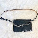Michael Kors Bags | Michael Kors Silver Chain Logo Fanny Pack | Color: Black/Gray | Size: Os
