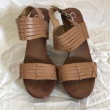 Jessica Simpson Shoes | Jessica Simpson Brown Wood Wedges | Color: Brown | Size: 9.5