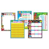 TREND enterprises, Inc. Trend Classroom Basics Blockstars ® Learning Charts Combo Pack, Set 5, Size 27.25 H x 18.0 W x 0.06 D in | Wayfair T-38981