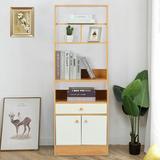 Ebern Designs Modern Simple Dining Side Cabinet, Storage Cabinet, Size 55.7 H x 19.7 W x 11.8 D in | Wayfair 401EABB334C540F98ECE2E38B7585E5C