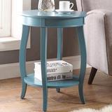 Red Barrel Studio® Jagdambika Side Table In Antique White Wood in Blue, Size 18.0 W x 18.0 D in   Wayfair 9DB8B1A2301A4D86833B658182998102