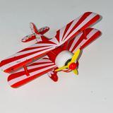 Disney Toys   Disney Pixar Orange White Stripe Polka Biplane Toy   Color: Orange/White   Size: 4.25 X 3.25