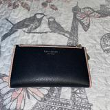 Kate Spade Bags   Leila Small Slim Bifold Wallet   Color: Black/Cream   Size: Os