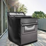 limerenc Washing Machine Cover,W29in D28in H43in,Washer/Dryer Cover Fit Most Top Load Or Front Load Washers/Dryers,All Weather Protection () in Gray