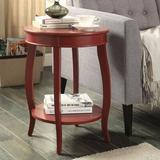 Red Barrel Studio® Aberta Side Table In Antique White Wood in Brown, Size 24.0 H x 18.0 W x 18.0 D in | Wayfair D1429347419D4E18B4583C1A55415175