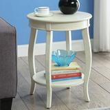 Red Barrel Studio® Aberta Side Table In Antique Wood in White, Size 24.0 H x 18.0 W x 18.0 D in | Wayfair 6EA82BF1609340CFB6871BF36AF08E0B