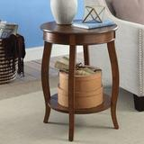 Red Barrel Studio® Aberta Side Table In Antique White Wood in Brown, Size 24.0 H x 18.0 W x 18.0 D in | Wayfair 04B257ABB05F48E1A326AA90F38892B1