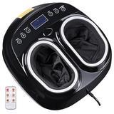 Yescom Shiatsu Foot Massager Machine Rolling Kneading Air Pressure Heating Remote Home, Size 9.0 H x 15.0 W x 13.0 D in | Wayfair