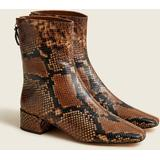 Roxie Ankle Boots In Snake-embossed Leather - Brown - J.Crew Boots