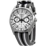 Core Chronograph Quartz White Dial Watch - Metallic - Seiko Watches