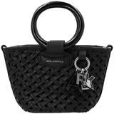 'basket Small' Handbag - Black - Karl Lagerfeld Totes