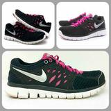 Nike Shoes | Nike 'Flex 2013 Run' Running Shoes | Color: Black/Pink | Size: 8.5