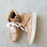 Michael Kors Shoes   Michael Kors Reece Youth Girls Fashion Sneakers   Color: Tan   Size: 2g