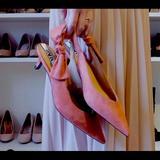 Zara Shoes   New Zara Pink Bow Slingback Kitten Heels Sz 37   Color: Pink   Size: 37eu