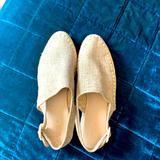 Zara Shoes | Khaki Canvas Sling Back Espadrilles | Color: Tan | Size: 39