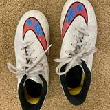 Nike Shoes | Nike Cleated White Soccer Shoe Size 2 Youth. | Color: White | Size: 2g