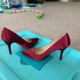 Nine West Shoes | Deep Red Silky Pump Size 8.5 | Color: Red | Size: 8.5