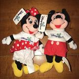 Disney Toys   Mickey & Minnie Mouse Disney Quest Plush Beanbag   Color: Black/Red   Size: Bean Bag Plush