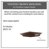 ZLINE Vented Crown Molding Profile 6 for Wall Mount Range Hood (CM6V-8667C) - ZLINE Kitchen and Bath CM6V-8667C