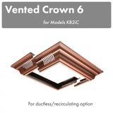 ZLINE Vented Crown Molding Profile 6 for Island Mount Range Hood (CM6V-KB2iC) - ZLINE Kitchen and Bath CM6V-KB2iC