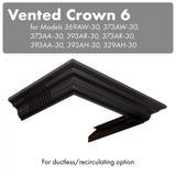 ZLINE Vented Crown Molding Profile 6 for Wall Mount Range Hood (CM6V-300A) - ZLINE Kitchen and Bath CM6V-300A