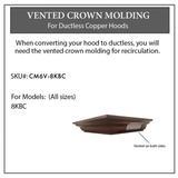 ZLINE Vented Crown Molding Profile 6 for Wall Mount Range Hood (CM6V-8KBC) - ZLINE Kitchen and Bath CM6V-8KBC