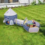 Outdoor Rocket Look Inc Children's Play Tent Space Capsule Yurt Three-Piece Crawling Tunnel & Ball in Blue, Size 53.14 H x 41.33 W x 41.33 D in