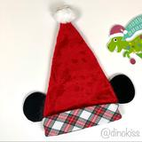 Disney Accessories | Disney Adult Christmas Mickey Ears Plush Santa Hat | Color: Red/White | Size: Os