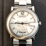 Gucci Accessories | Mens Stainless Day & Date Gucci Watch | Color: Silver | Size: Os