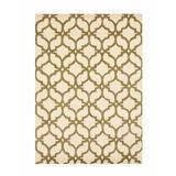 Mercer41 Innes Geometric Handmade Tufted Wool Ivory/Area Rug Wool in Brown, Size 114.0 H x 90.0 W x 0.5 D in | Wayfair